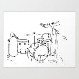 Drum Recording Art Print