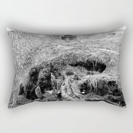 black to blacker Rectangular Pillow
