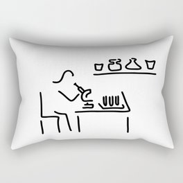 laboratory assistant lab Rectangular Pillow