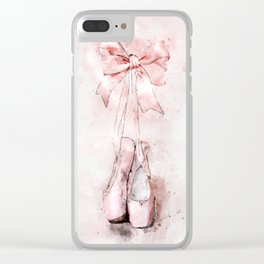 Ballet pointe slippers Clear iPhone Case