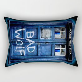 Tardis doctor who with Bad wolf graffiti iPhone 4 4s 5 5s 5c, ipod, ipad case Rectangular Pillow