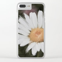 Painted Daisy Clear iPhone Case