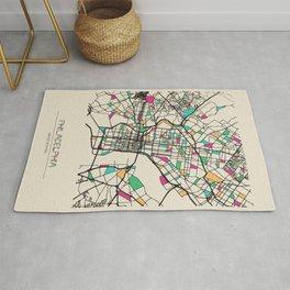 Colorful City Maps: Philadelphia, Pennsylvania Rug