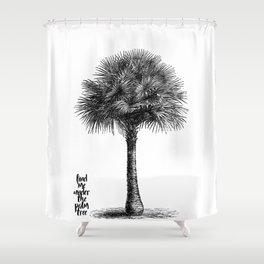 palm tree botanical no1 Shower Curtain