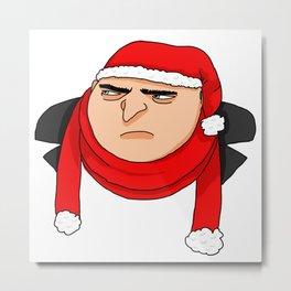 Christmas Gru Metal Print