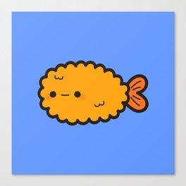 Cute prawn tempura Canvas Print