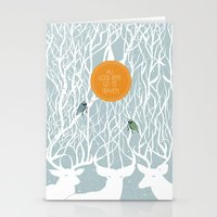 pixies Stationery Cards featuring All Good Deer go to Heaven by Cocorrina