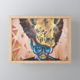 Giraffe Me Centric Framed Mini Art Print