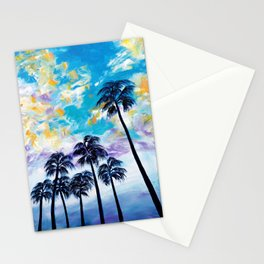 Oceanside Palm Trees Stationery Cards