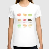 macaroons T-shirts featuring Love Macaroons by Imagology