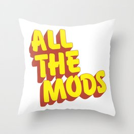 All the Mods Throw Pillow