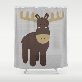 Edward the Moose Shower Curtain