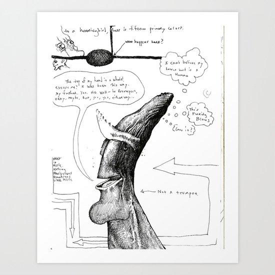 Whaledude Art Print