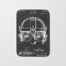 Welding Goggles Blueprint Bath Mat
