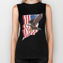 USA Flag and Bald Eagle Biker Tank