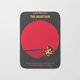 No620 My The Martian minimal movie poster Bath Mat