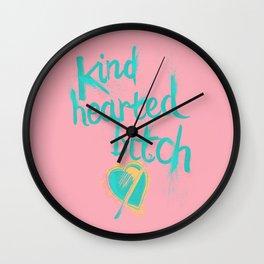 Kind Hearted B---H Wall Clock