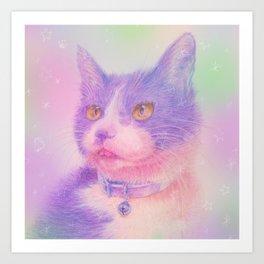 miwa cat1 ~purple~ Art Print