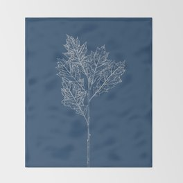English Oak Blueprint Throw Blanket