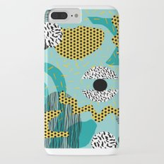 Boss - abstract 80s style memphis vibes patterns 1980's retro minimal throwback decor iPhone 8 Plus Slim Case
