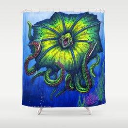 Raging Kuma Beast Shower Curtain