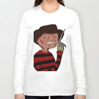 freddy krueger Long Sleeve T-shirts featuring Adventure Time with Freddy Krueger by MrDamnKids