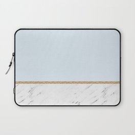 Duck egg blue marble Laptop Sleeve