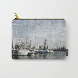 Shrimp Boats at the Harbor Carry-All Pouch