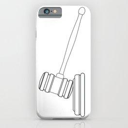 Judges Gravel Line Drawing iPhone Case