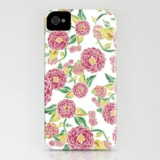Camellia Japonica Floral Pattern iPhone (4, 4s) Slim Case