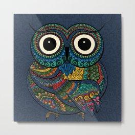 Bohemian Owl Metal Print
