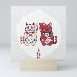 Maneki Neko(招き猫) Mini Art Print