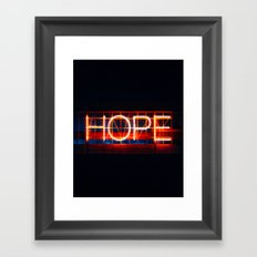 Hope. Framed Art Print