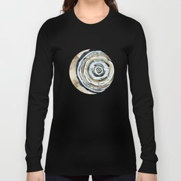 Wood Slice Abstract Long Sleeve T-shirt