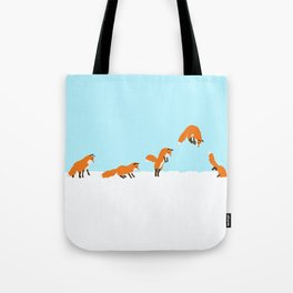 The jumping fox Tote Bag