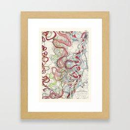Vintage Map of the Mississippi River Framed Art Print