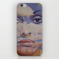 mona lisa iPhone & iPod Skins featuring Mona Lisa by Michael Creese