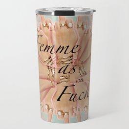 Femme as Fuck (ornate and pastel) Travel Mug