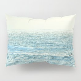 Waiting for the Perfect Wave at Kona Beach, Hawaii Pillow Sham