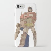 optimus prime iPhone & iPod Cases featuring Optimus Prime by colleencunha