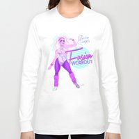 workout Long Sleeve T-shirts featuring Fusion Workout  by Celeste Pille