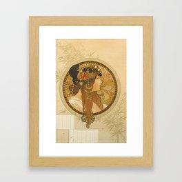 "Alphonse Mucha ""Byzantine Head: The Brunette"" Framed Art Print"