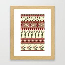 Classic Reindeer Ugly Sweater Framed Art Print