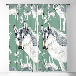 Totem Alberta Wolf Blackout Curtain