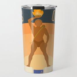 World Wonder: Colossus of Rhodes Travel Mug