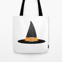Glitter Witch Hat Tote Bag