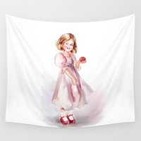baby Wall Tapestries featuring baby by tatiana-teni