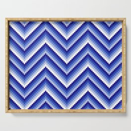 pixel zig-zag Serving Tray