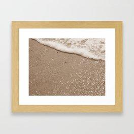 Sparkling Diamond Beach Framed Art Print
