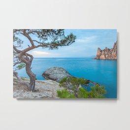 Minimalist Seascape. Coastal Sunrise. Ukraine. Crimea. Metal Print